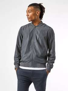 Burton Mens Grey Bomber Jacket £6.46 + Free Next Day Delivery with code