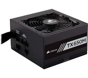 Corsair 650W TX650M 80+ Gold Hybrid Modular Power Supply/PSU - £71.99 with code at Currys PC World