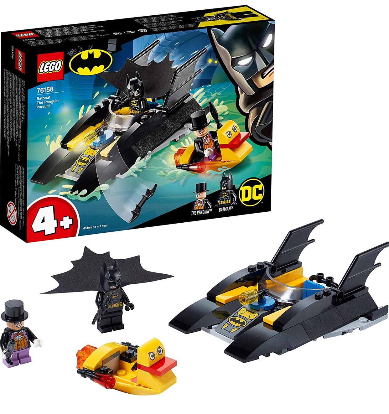 LEGO 76158 DC Batman 4+ Batboat The Penguin Pursuit Toy Boat £6.80 Prime/ £11.29 Non Prime at Amazon EU