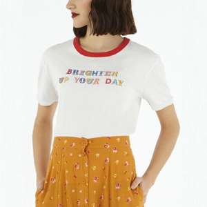 """""""Brighten up your day"""" Slogan T-Shirt now £12.00 delivered, using code @ Cath Kidston"""