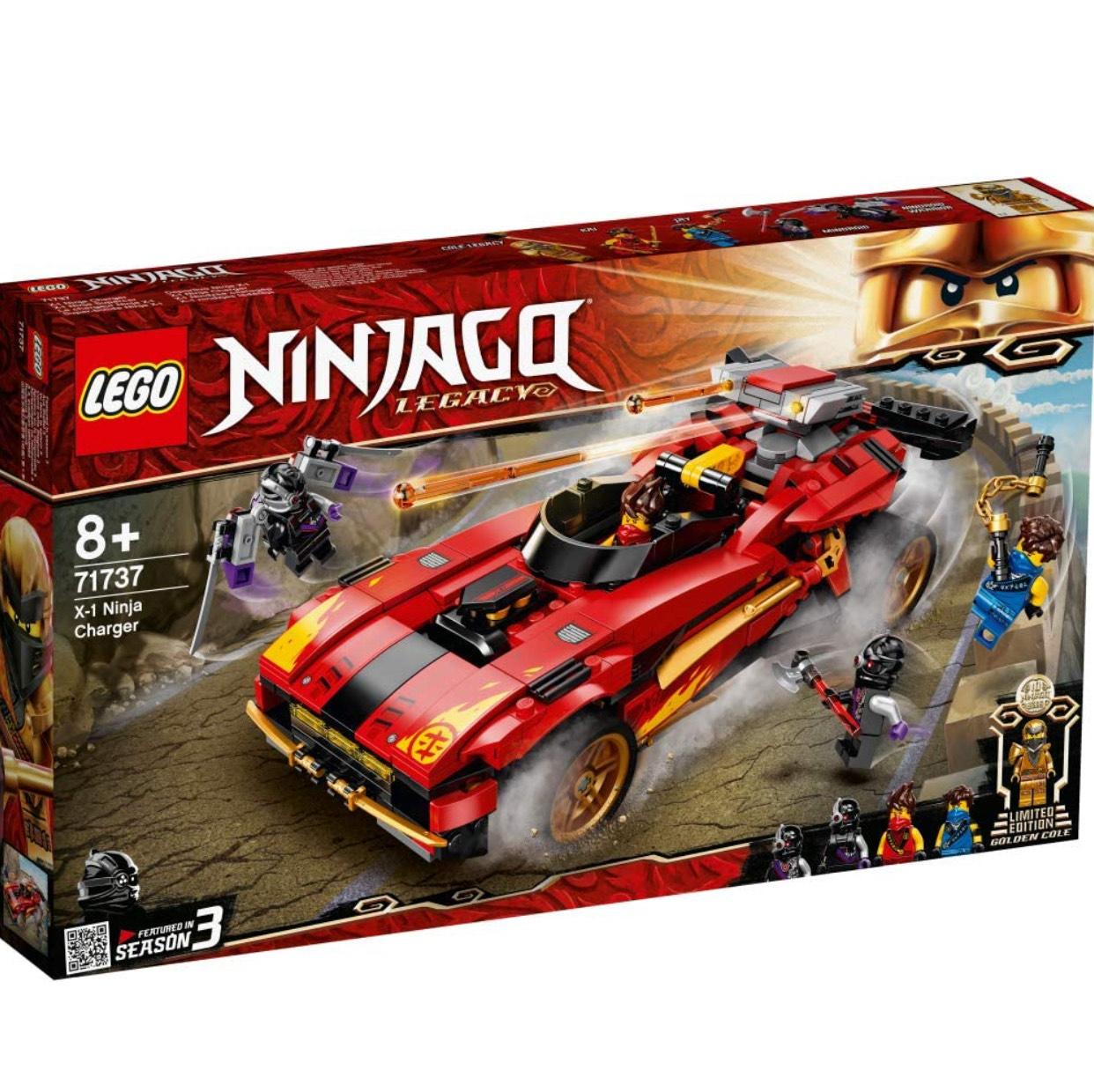 LEGO NINJAGO 71737 Legacy X-1 Ninja Charger Ninja Car Toy and Motorcycle with Cole Golden Figure £34.95 at Amazon