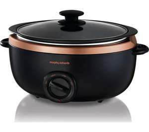 Morphy Richards Evoke Sear And Stew 6.5 Litre Slow Cooker - Black / Rose Gold £39.99 + Free delivery @ Currys / Currys ebay