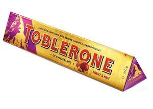 Fruit & Nut Toblerone 360g - Swiss milk chocolate with raisins and honey and almond nougat £1.50 in Poundland Westwood Cross (Thanet)
