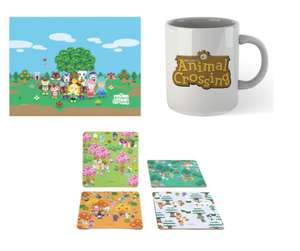 Officially licensed Animal Crossing toughened Glass Chopping Board + Coaster Set + Mug £19.99 delivered, with code, @ Zavvi