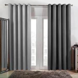 Dreamscene Eyelet Blackout Curtains - Charcoal or Silver - From £13 - £22 + Free Mainland UK Delivery @ OnlineHomeShop