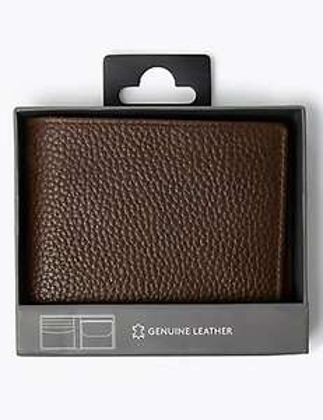 Leather Bi-fold Cardsafe™ Wallet Now £5 (+ £3.50 delivery) @ Marks & Spencer