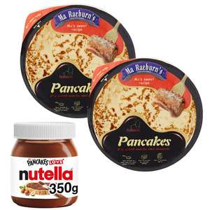 Nutella 350g + 2 x 12 Ma Raeburn's Pancakes Sweetened (24 pancakes) = £4 with code (+ Del Charge / Min Spend Applies) @ Iceland
