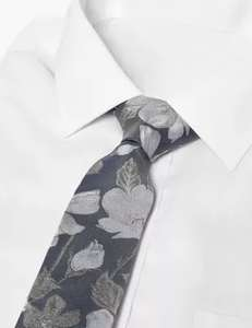 Slim Floral Pure Silk Tie, Now £5 (+ £3.50 Delivery) @ Marks & Spencer