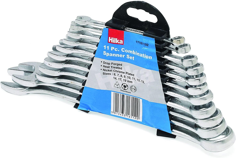 11 Piece Hilka 17161102 Combination Spanner Set MM in Display Box - £6.75 Prime / +£4.49 non Prime @ Amazon