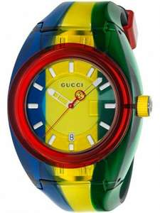GucciMens Sync Multicolor Rubber Strap WatchYA137114 - £350 @ TH Baker