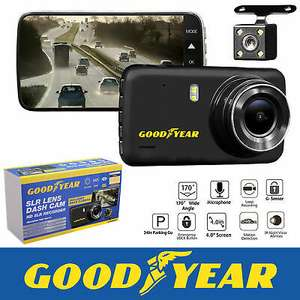 Goodyear 1080P Dual Lens Car DVR Front and Rear Camera Video Dash Cam Recorder - £29.99 @ eBay / thinkprice