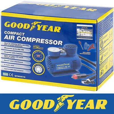 Goodyear Car Tyre Air Compressor Pump Bike Cycle Compact 3m Cord 12V Inflator £14.99 @ thinkprice / ebay