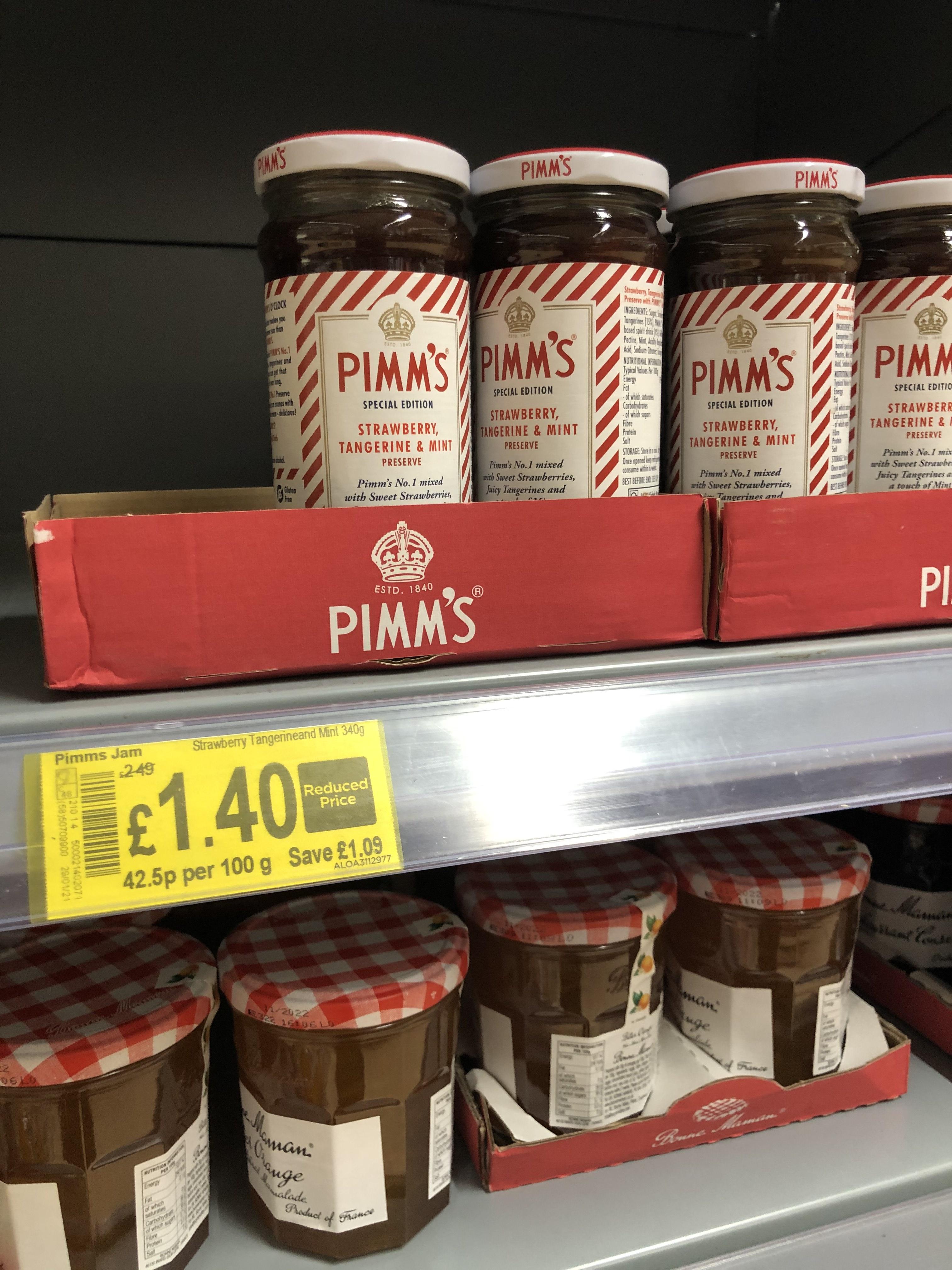 Pimm's Jam - Strawberry, Tangerine, Lime - 25p Instore @ Asda (Fosse Park, Leicester)