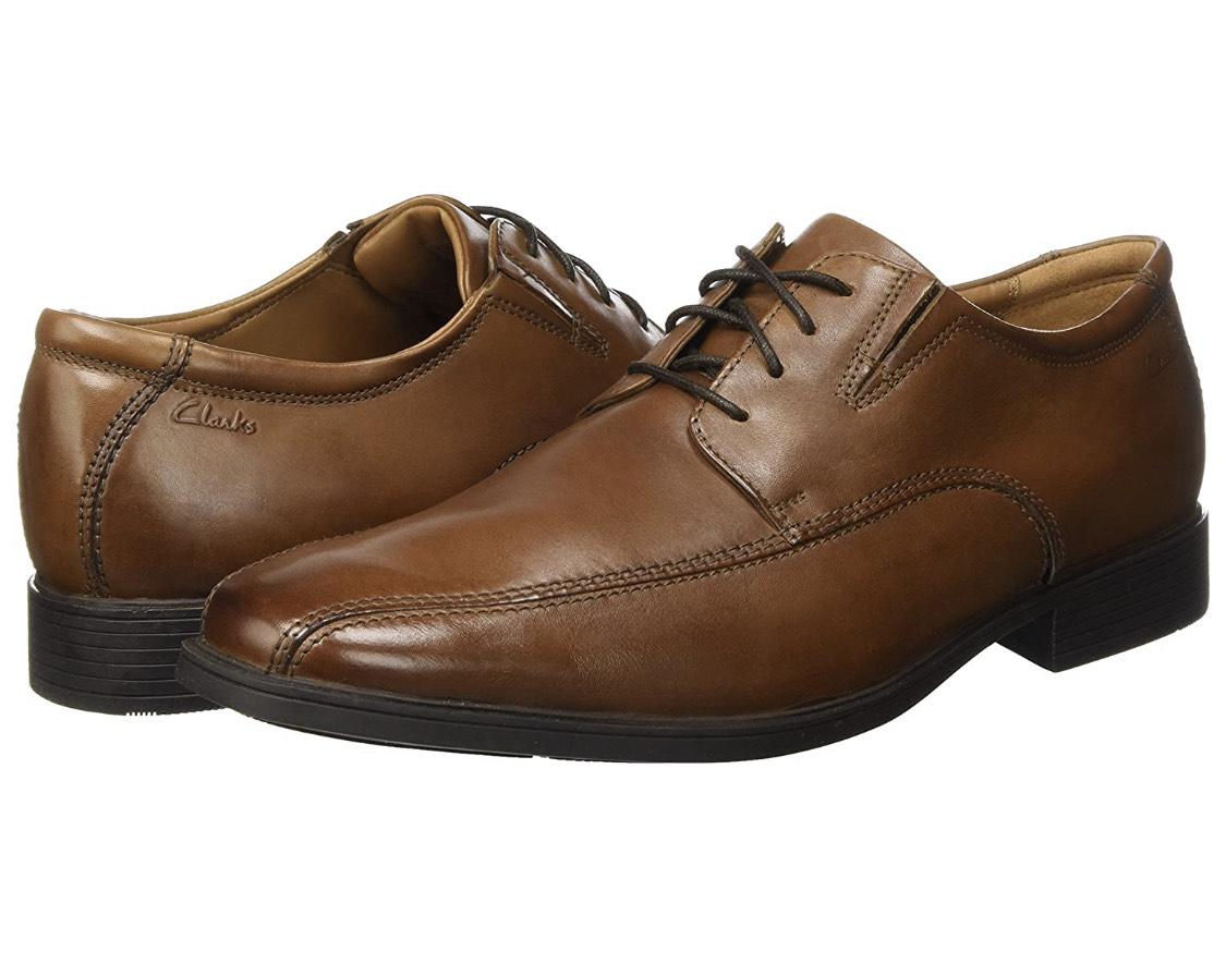 Clarks Tilden Walk Leather Shoes in Dark Tan £23.50 @ Amazon