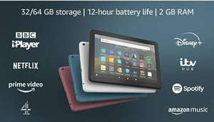 """Fire HD 8 Tablet, 8"""" HD display, 32 GB, Black - with Ads £69.99 @ amazon"""