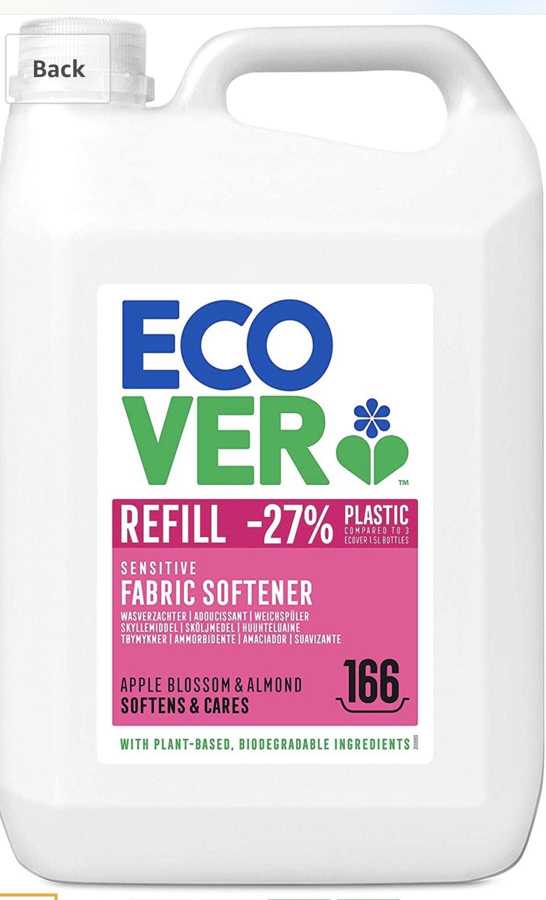 Ecover Fabric Softener Refill Apple Blossom & Almond, 166 Wash £8.49 (+£4.49 non-prime) @ Amazon
