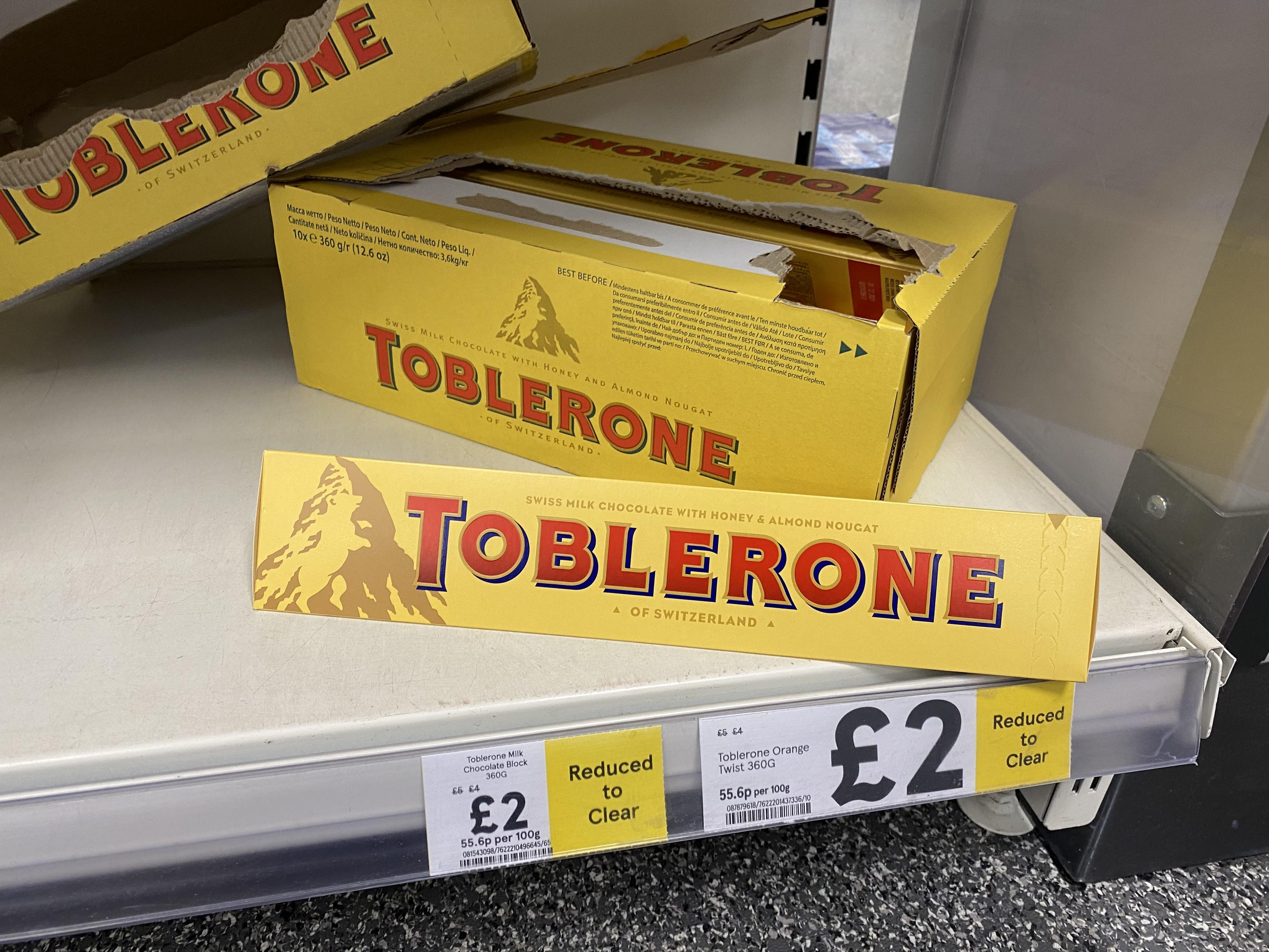 Toblerone Milk Chocolate and Orange 360g - £2.00 at Tesco Express (Studley)