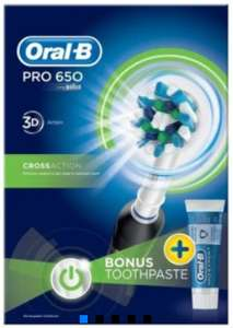Oral-B Pro 600 Cross Action Electric Toothbrush - £15 in-store Tesco Fox and Goose