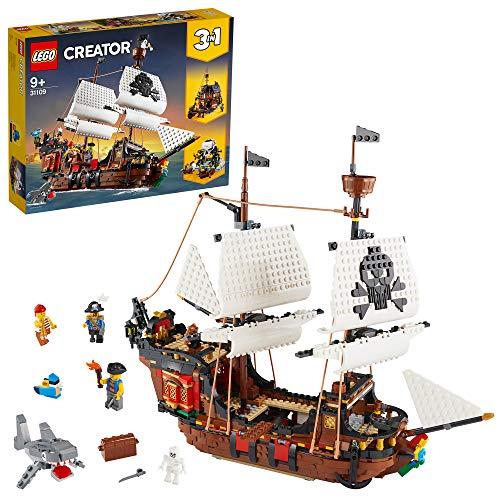 LEGO 31109 Creator 3in1 Pirate Ship, Inn & Skull Island Toy Set - £67.05 @ Amazon via Amazon EU