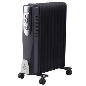 Black 9 Fin 2000W / 2kW Oil Filled Radiator with Thermostat - £28 delivered @ WeeklyDeals4Less