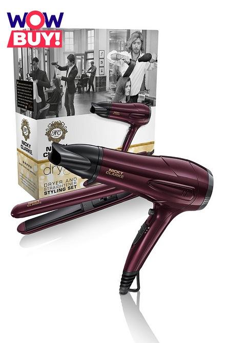 Nicky Clarke Dryer and Straightener Gift Set £38.98 delivered at Studio