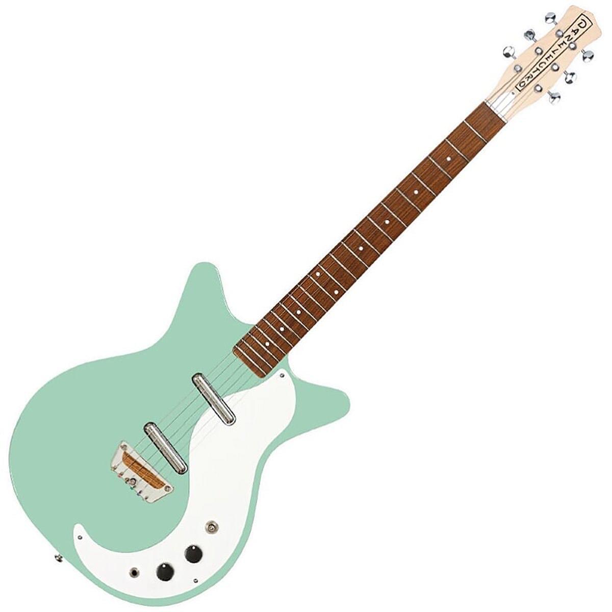 "Danelectro The ""Stock '59"" Electric Guitar in Aqua £339 at Dawson's Music"