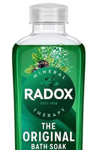 Radox soak bath 500ml buy one get one free £1 + £3 del at Superdrug