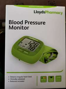 Lloyds Pharmacy cuff blood pressure monitor £14.99 instore @ Sainsbury's Bolton in stock online on deal link