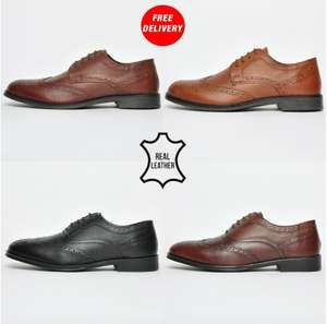 Men's Red Tape Leather Brogues shoes now £11.24 with code Free delivery @ Express Trainers