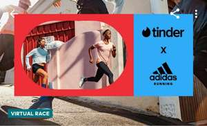 Free month of Tinder Gold when you record a 7km run in Adidas Running