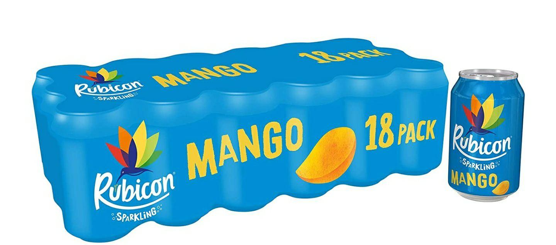 Rubicon Sparkling Mango Fizzy Drink Cans 330ml x 18 - £6 prime / £10.49 nonPrime at Amazon