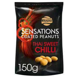 Sensations Coated Peanuts Thai Sweet Chilli 150g / Honey & Salt 145g for £1 (Minimum Basket / Delivery Charges Apply) at Sainsburys