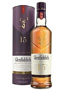 Glenfiddich 15 Year Old Single Malt Scotch Whisky – 70 cl £35 at Amazon