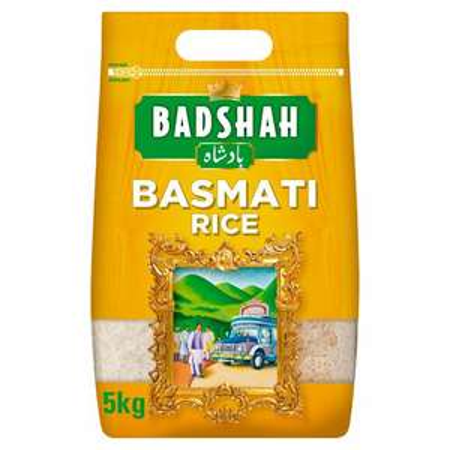 Badshah Basmati Rice 5kg £6 (Minimum Basket / Delivery Charges Apply) @ Asda