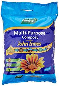 Westland Multipurpose Compost with Added John Innes, 10 L at Amazon £3.95 Prime (+ £4.49 non Prime)