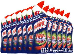 Harpic Limescale Remover Fresh 750 ml Toilet Cleaner (Pack of 12) £12 prime / £16.49 nonPrime/ £10.80 s&s at Amazon