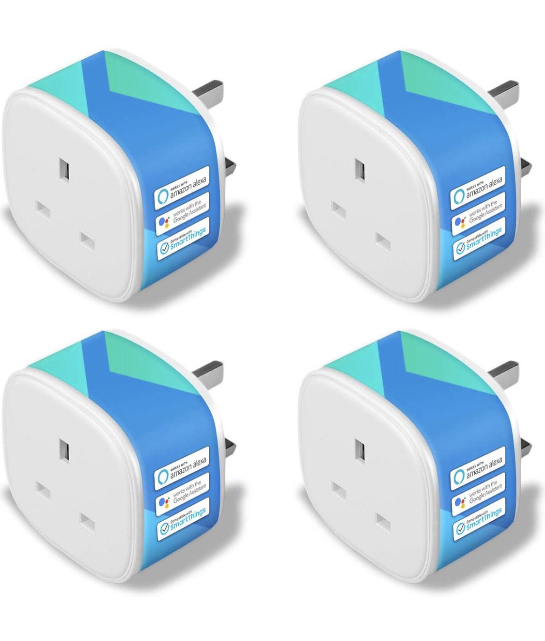 Smart Plug WiFi sockets [New Model] Wireless Socket Remote Control Timer Plug Switch 13A (4PACK) like new £29.91 Amazon warehouse