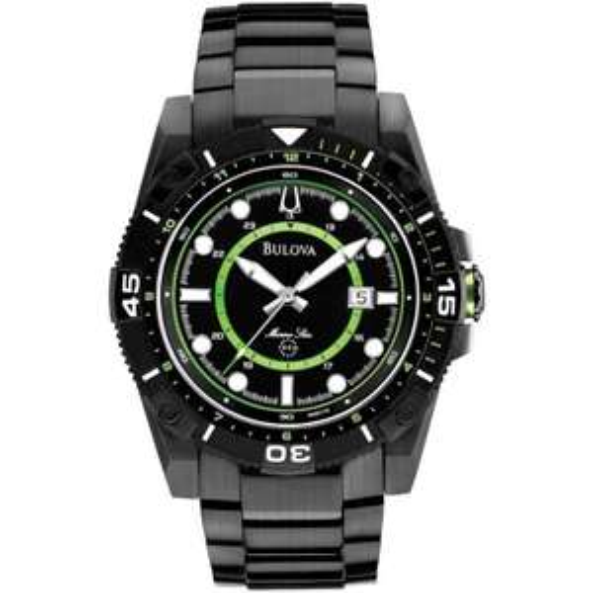 Bulova Men's Black PVD Marine Star Watch 100m 98B178 - £165 @ Francis & Gaye
