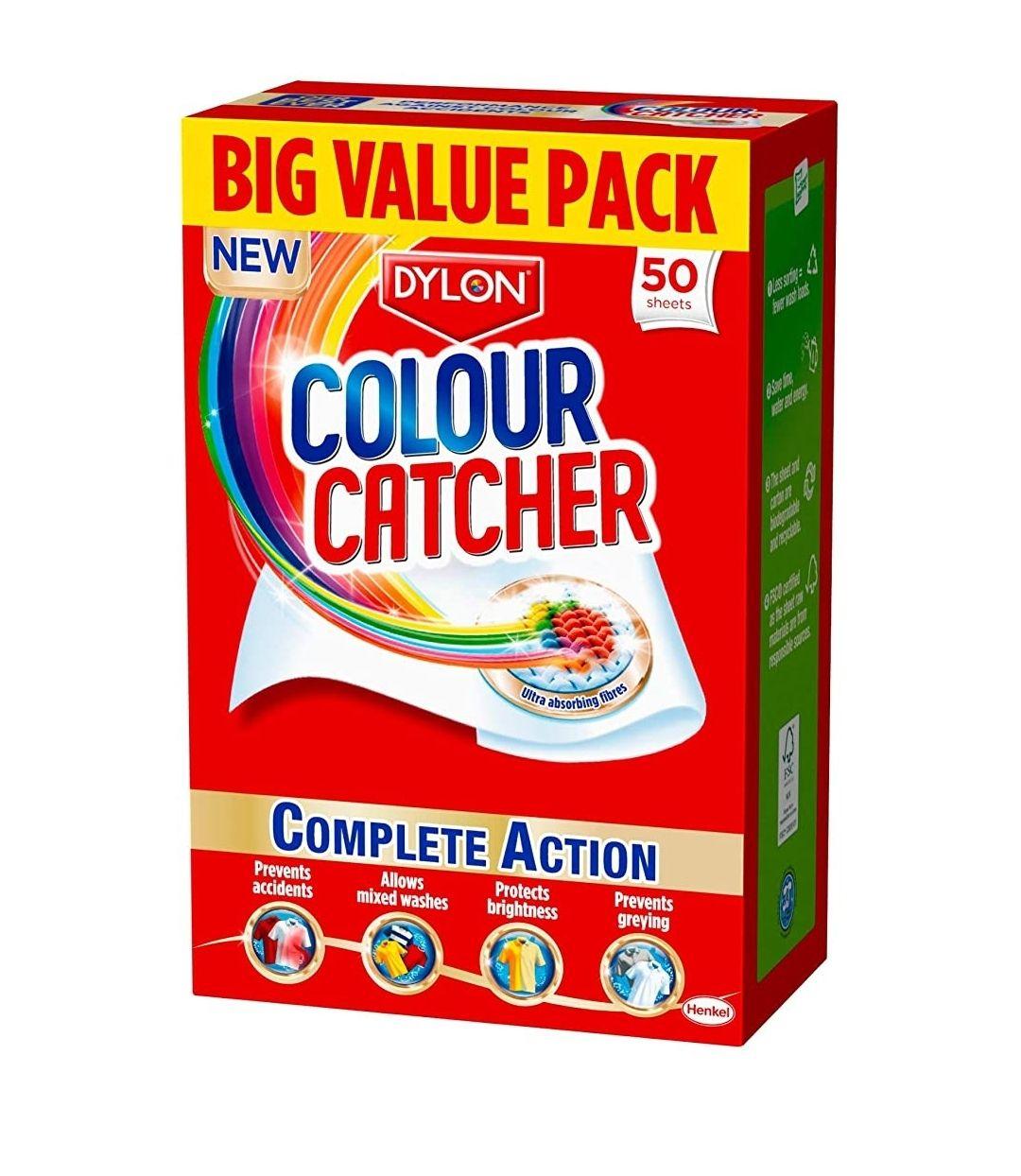 Colour catcher 50 sheets £3.75 (+ £4.49 Non Prime) @ Amazon. £3.56 with S&S