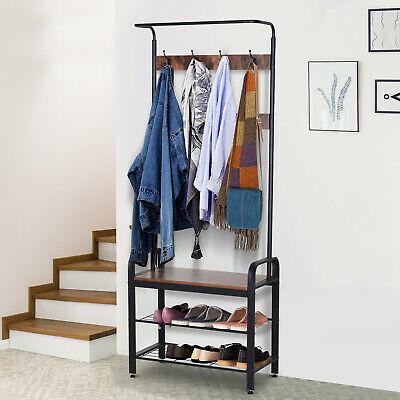 Industrial Coat Rack Stand Shoe Bench £45.04 Delivered using code @ eBay / 2011homcom
