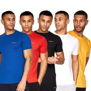 Crosshatch 5 Pack T-Shirts £17.99 with code + £1.99 Delivery From Crosshatch