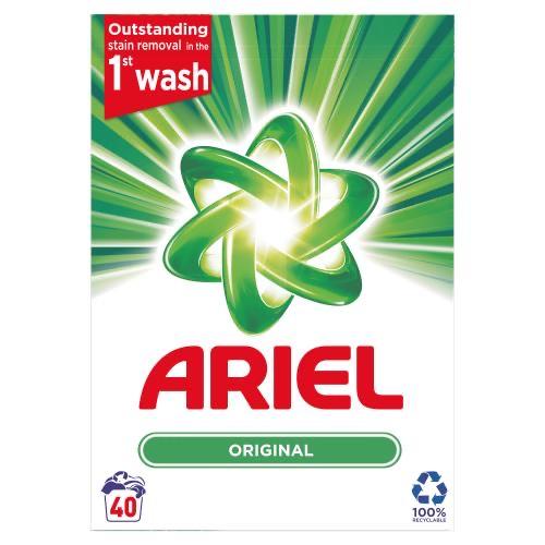 Ariel Regular Washing Powder 40 Washes 2.6kg now £5 @ wilko in store & online (+£5 online)