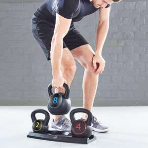 Neo 3PC Kettlebell Set Weights Sets + Rack/ Stand 2, 4, 8 KG £42.49 with code Free UK Mainland Delivery @ neodirect / eBay