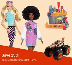 25% Off 300+ Selected Toys For Half Term Inc LEGO & Play-Doh + 2 X Nectar Points (£3.95 delivery) @ Argos