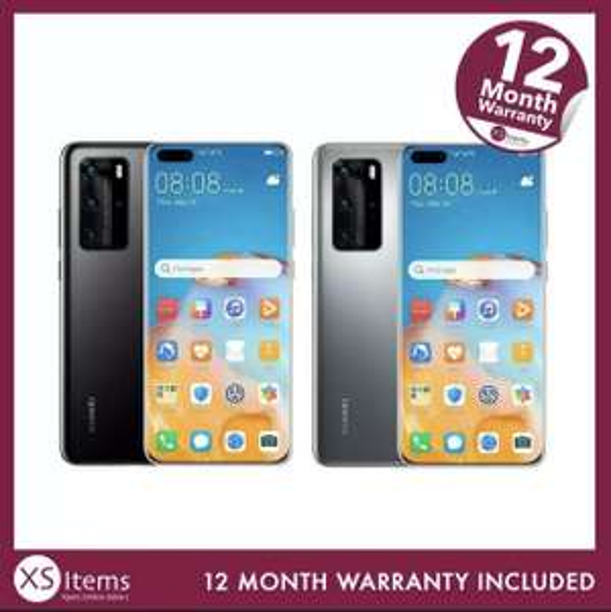 Huawei P40 Pro - 256GB - Silver Frost - Grade A - £397.24 , Grade B - £379.24 , Grade C - £361.24 at xsitems_ltd ebay