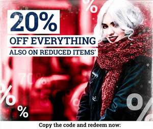 20% Off Full Price & Sale items, using discount code @ EMP