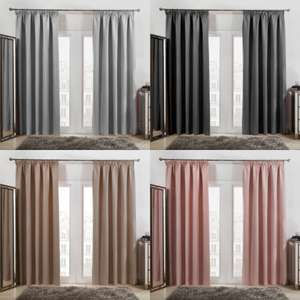 Pencil Pleat Thermal Blackout Curtains - From £12.50 - £19.50 Delivered (Mainland UK) @ OnlineHomeShop