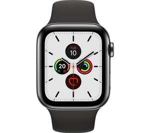 Apple Watch Series 5 Stainless Steel Black with Black Sports Band 44mm £319 at Currys PC World