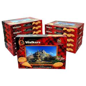 Walkers Pure Butter Shortbread Assortment 12 boxes x 320g (BBE March 30th) each for £15 delivered at Yankee Bundles