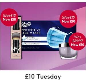 £10 Tuesday - No7, Olay, Gillette, Revlon, Ted baker, Nature, JML, Balis&Harding, Scholl £3.50 Delivery (Free with £30 spend) @ Boots
